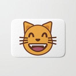 cat face emozy Bath Mat