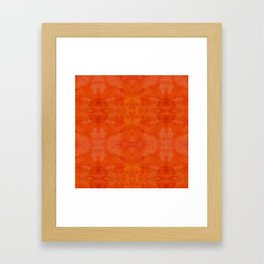 Aztec in orange Framed Art Print