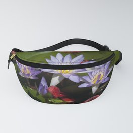 Water lilies colorful photograph Fanny Pack