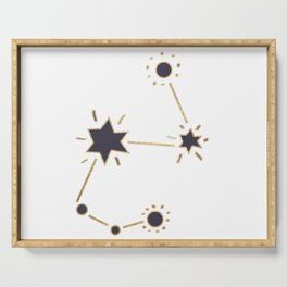 Golden constellation Serving Tray