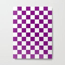 Diamonds - White and Purple Violet Metal Print