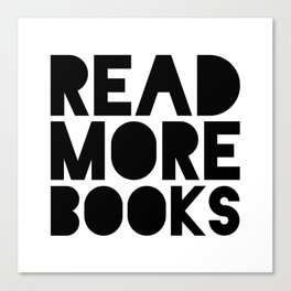 Read More Books - Black and white V2 Canvas Print