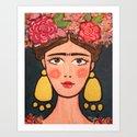 Frida Kahlo Stylized No 2 by domnaban