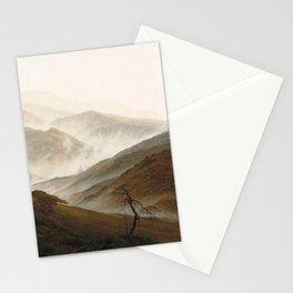 Mountain with Ascending Mist by Caspar David Friedrich Stationery Cards