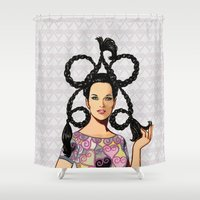 dress Shower Curtains featuring Mini dress by Tom Tierney Studios