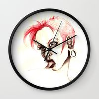 rebel Wall Clocks featuring rebel by cistus skamberji