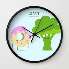 Guilty pleasure shame Wall Clock