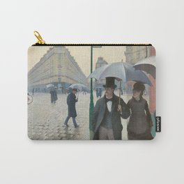 Gustave Caillebotte - Paris Street; Rainy Day Carry-All Pouch