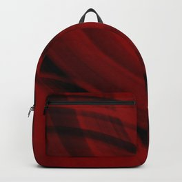 Ellipse intersecting bloody curved lines with blurred ovals of bright rings.  Backpack