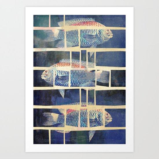 Fish Under Strong Radiation 5 Art Print