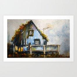 The Blue House Art Print