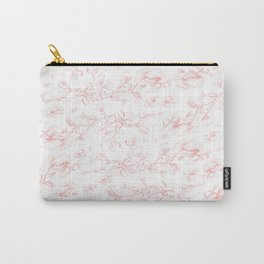 Red pohutukawa pattern Carry-All Pouch