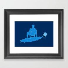 Water Surfer Framed Art Print