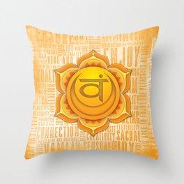 Sacral Chakra Throw Pillow