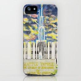 Seattle Washington LDS Temple iPhone Case