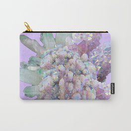 GLITTERING GREEN & PURPLE QUARTZ CRYSTALS ART Carry-All Pouch