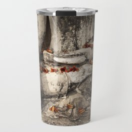 Buddha with flowers Travel Mug