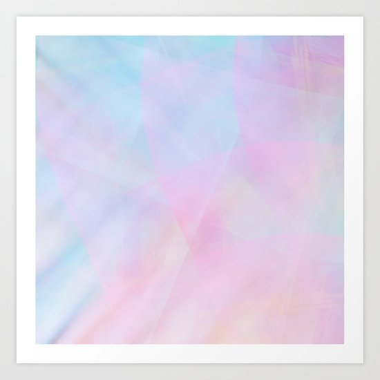 Abstract Pastel Design Art Print