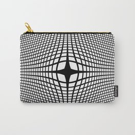 Black On White Convex Carry-All Pouch