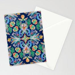 Boho Navy and Brights Stationery Cards