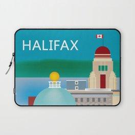 Halifax, Nova Scotia, Canada - Skyline Illustration by Loose Petals Laptop Sleeve