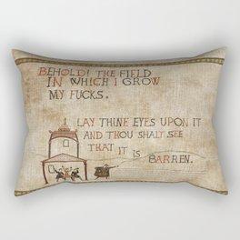 Behold the field Rectangular Pillow