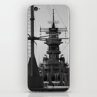 wisconsin iPhone & iPod Skins featuring USS Wisconsin by Kelly Stiles