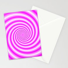 Pink and White Candy Swirl Stationery Cards