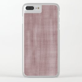 Pantone Red Pear Dry Brush Strokes Texture Pattern Clear iPhone Case