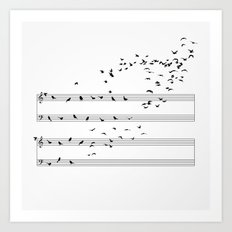 Natural Musical Notes Art Print