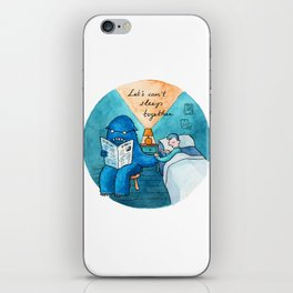 Let's can't sleep together iPhone Skin