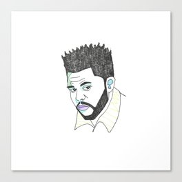 The Rapper-a-Day Project (R&B Edition) | Day 54: The Weeknd Canvas Print