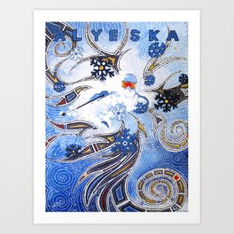 Alyeska Pow Skier Art Print