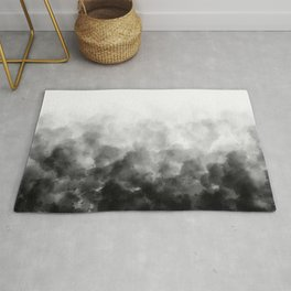 Ombre Smoke Clouds Minimal Rug