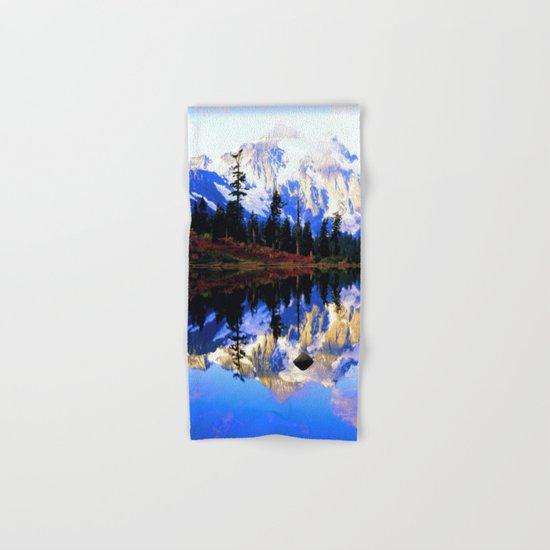 Glacier Mountains Hand & Bath Towel