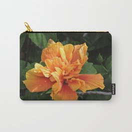 The Golden Double Hibiscus Next Door Carry-All Pouch