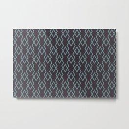 Soft Aqua Blue Purple Tessellation Line Pattern 19 2021 Color of the Year Aegean Teal Tulsa Twilight Metal Print