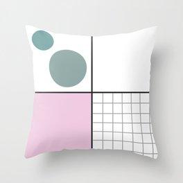 grid fun Throw Pillow