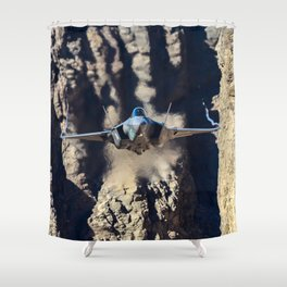 F-35 in Death Valley Shower Curtain