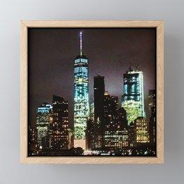 NYC @ NITE Framed Mini Art Print