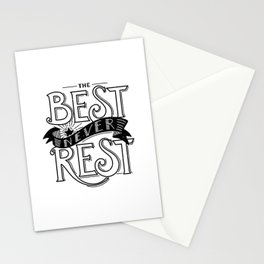 The Best Never Rest - HandLettering Quote, Black&White illustration design for T-shirts Stationery Cards