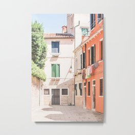 444. Little colorful Place, Venice, Italy Metal Print