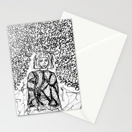 Woman Lost in the Dark Stationery Cards
