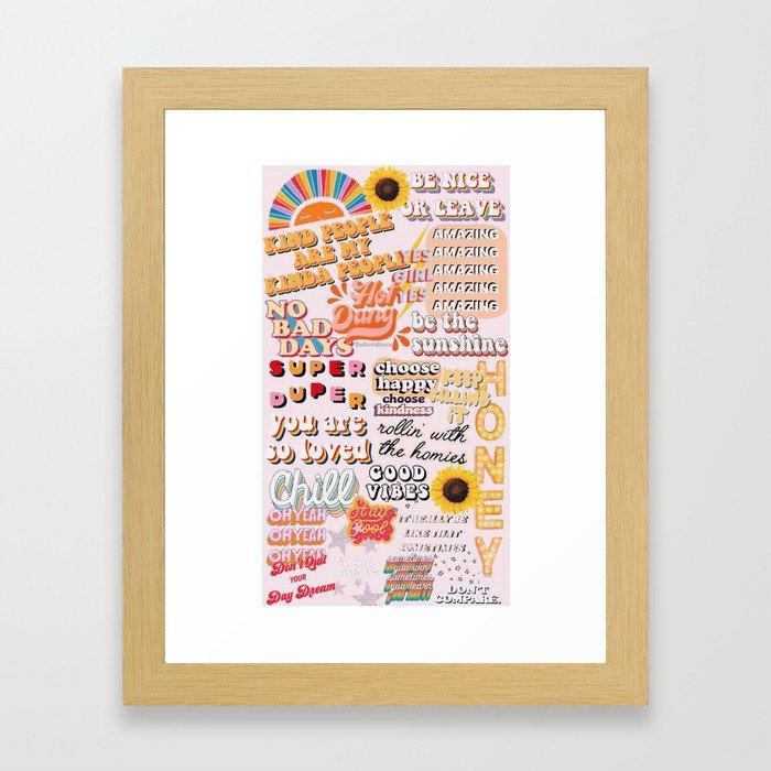 Orange Mood Framed Art Print