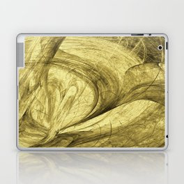 Flying threads of gold Laptop & iPad Skin