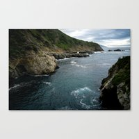 big sur Canvas Prints featuring Big Sur by Loaded Light Photography
