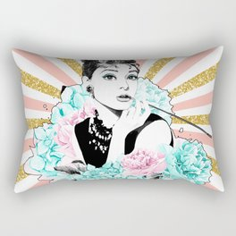 Iconic Audrey Hepburn Rectangular Pillow
