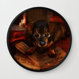 The Book of Dogtalk Wall Clock