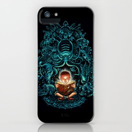 Kids, dont't read Necronomicon! iPhone Case