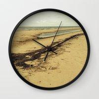 calcifer Wall Clocks featuring Sandbar by Calcifer